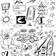Doodle business design elements — Stock Photo