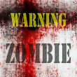 Warning Zombie background — Stock Photo