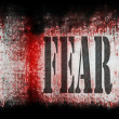 Concept fear wall background — Stockfoto