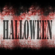 Halloween wall grungy background — Stock Photo