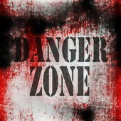 Danger Zone grungy wall background — Stock Photo