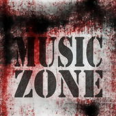 Music grungy wall background — Stok fotoğraf