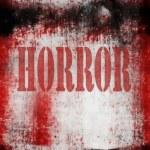 Horror on grunge bloody background — Stock Photo