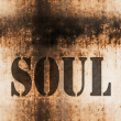 Stock Photo: Soul word music abstract grunge background