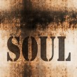 Soul word music abstract grunge background — ストック写真
