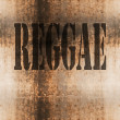 Reggae word music abstract grunge background — Stock Photo