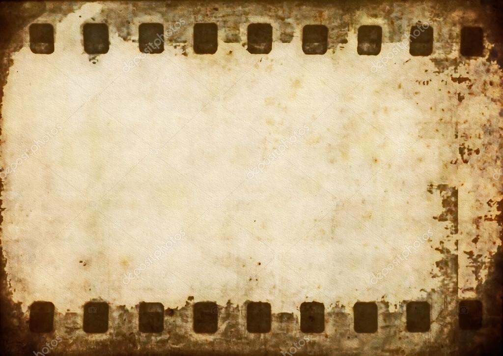 old blank film strip frame background � stock photo