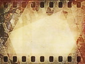 Old blank film strip frame background — Stockfoto