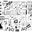 Doodles funny music background, design elements — Stock Photo