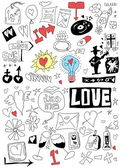 Love doodle set — Stock Photo