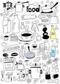 涂鸦食物 — 图库照片