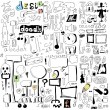 Doodle design elements, hand drawn illustration — Stok fotoğraf