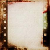 Old grunge film strip background — Stock Photo