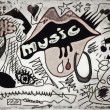 Doodle music old paper background, hand drawn color grunge design elements — Fotografia Stock  #39334253