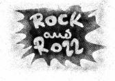 Rock and roll music word backgrounds and texture — Stock Photo