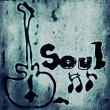 Stock Photo: Concept soul music word backgrounds and texture