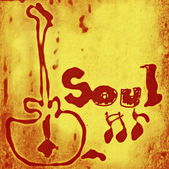 Concept soul music word backgrounds and texture — ストック写真