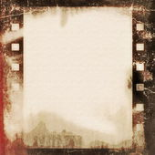 Old grunge film strip background — Foto Stock