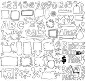 Doodle sale design elements — Stock Photo