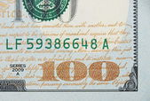 New one hundred dollar bill — Stock Photo