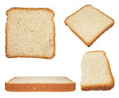 Set sliced bread isolated on white background (high resolution) — Foto de Stock