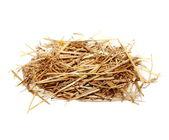 Pile straw isolated on white background — Stock Photo