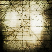 Concept old grunge rusty metal security barbed wire fence — Stock Photo