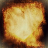 Grunge abstract Valentine heart on paper background — Stock Photo