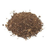 Pile of soil isolated on white background — Stock Photo