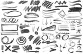 Doodle ink, hand drawn shapes, circle, square, triangle — Stock Photo