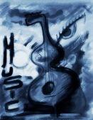 Fondo de grunge arte concepto música, artes digitales — Foto de Stock