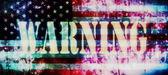 Concept d'alerte rapide et vieux fond de drapeau américain — Photo