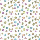 Seamless doodle floral pattern — Stock Photo