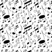 Musical notes seamless texture — Stock Photo