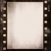 Old grunge film strip frame background — Stock Photo