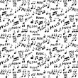 Music word and musical notes seamless texture and pattern — Stock Photo #47659763