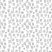 Seamless doodle hand written alphabet background — Stock Photo