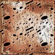 Musical notes seamless old grunge pattern — Stock Photo #47746789