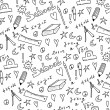 Hand drawn back to school seamless pattern — Stock Photo #47802555