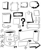 Doodles paper notes — Stock Photo