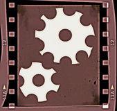 Grunge film strip frame background — Stock Photo