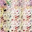 Seamless doodle musical notes old grunge pattern — Stock Photo #48110817