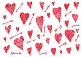 Doodle grunge srdce vzor — Stock fotografie