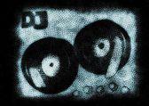 Dj mixer grunge background — Stock Photo