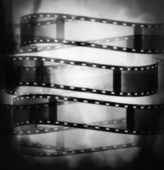 Black and white film roll background and texture — Foto Stock