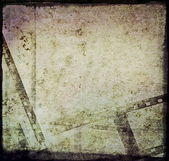 Old grunge film strip frame scrapbook background — Stock Photo