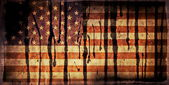 Old Grunge USA Flag stained with oil — Stock Photo