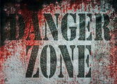 Danger Zone Zone metal panel grungy background — Stock Photo