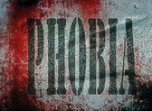 Concept phobia grunge metal plate background — Stock Photo