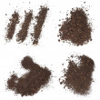Set pile dirt isolated on white background with clipping path, (high resolution) — Stock Photo